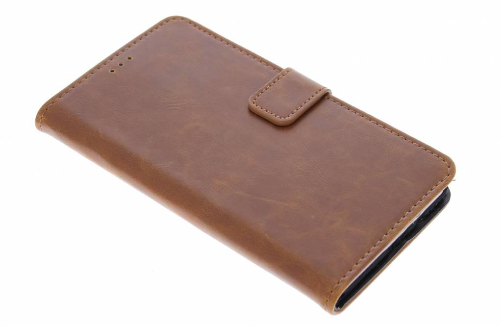 Kastanjebruine luxe leder booktype hoes voor de Samsung Galaxy A5