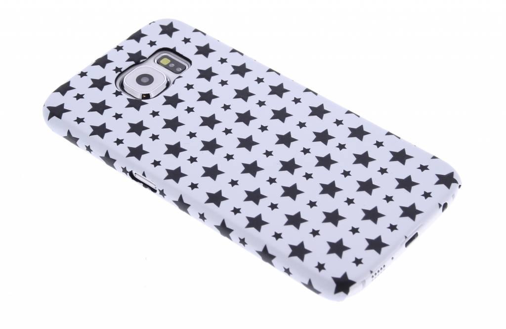 Wit sterren design hardcase hoesje voor de Samsung Galaxy S6