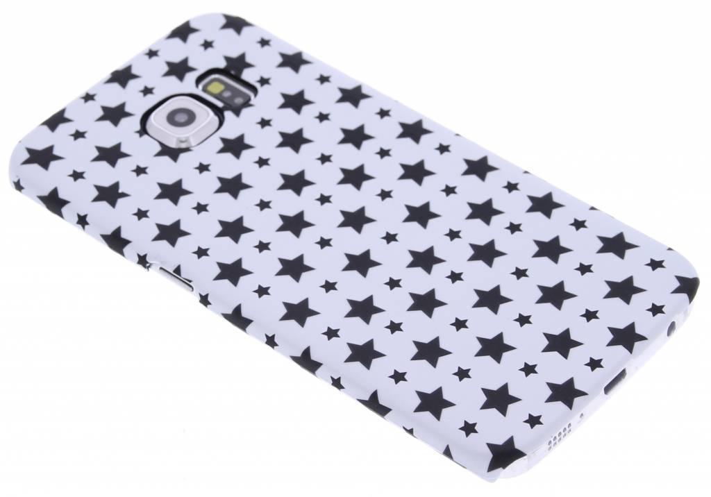 Wit sterren design hardcase hoesje voor de Samsung Galaxy S6 Edge