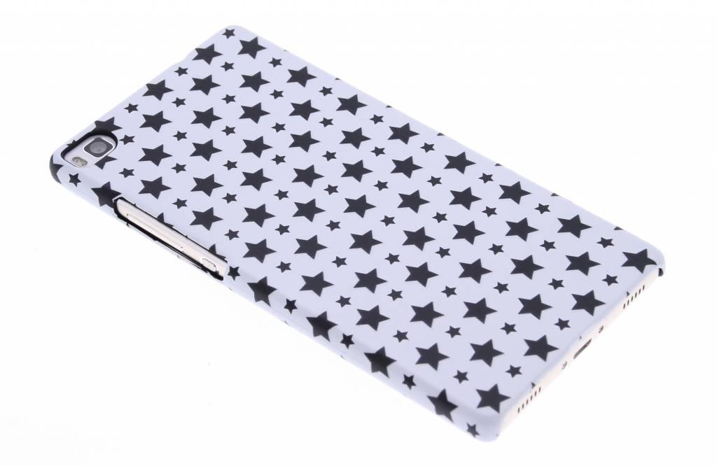 Wit sterren design hardcase hoesje voor de Huawei P8