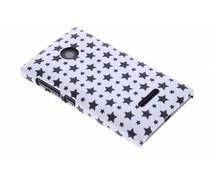 Wit sterren design hardcase hoesje Microsoft Lumia 532