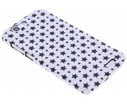 Wit sterren design hardcase hoesje Huawei Ascend G7