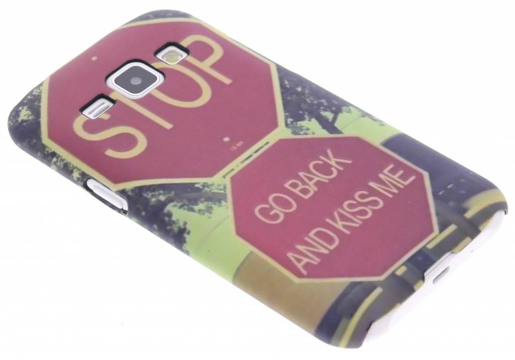 Stop design hardcase hoesje voor de Samsung Galaxy J1