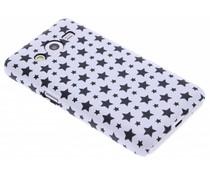 Wit sterren design hardcase hoesje Samsung Galaxy Core 2