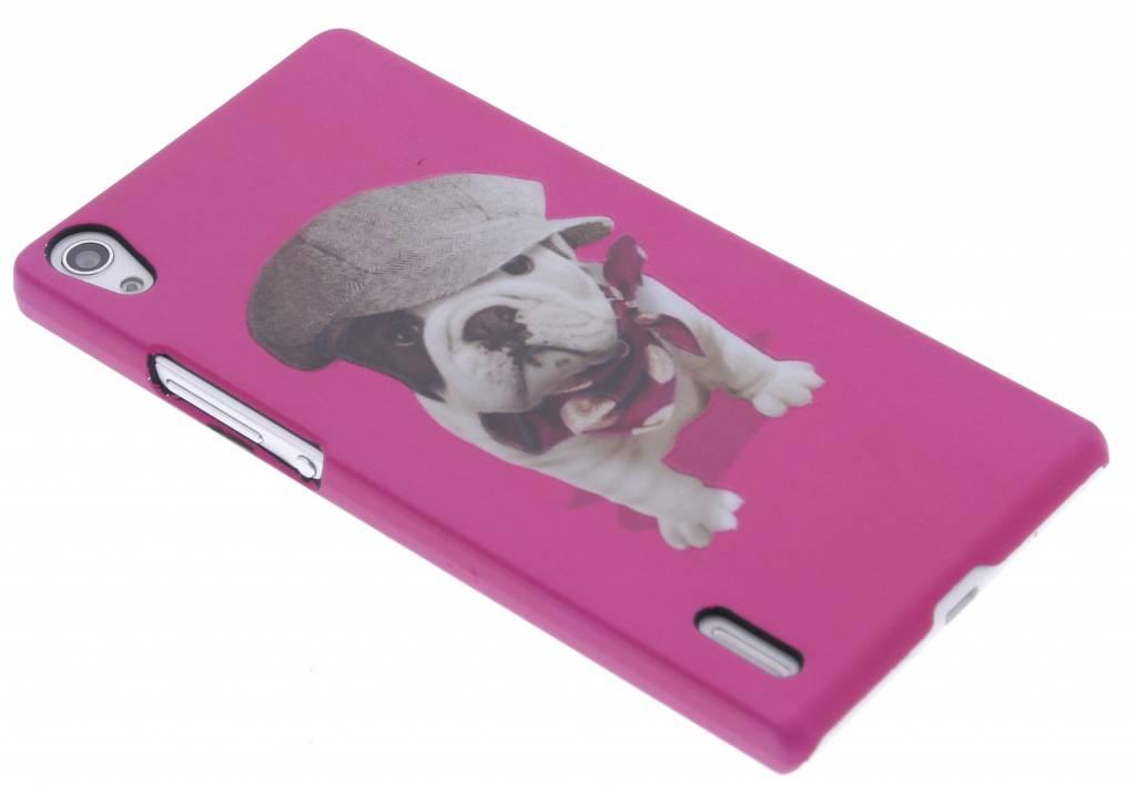Pug design hardcase hoesje voor de Huawei Ascend P7