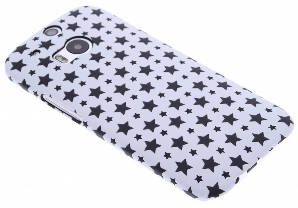 Wit sterren design hardcase hoesje voor de HTC One M8 / M8s
