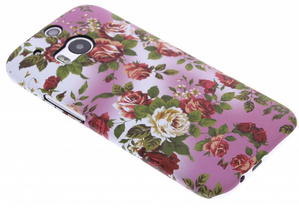 Bloemen design hardcase hoesje voor de HTC One M8 / M8s
