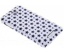 Wit sterren design hardcase hoesje HTC Desire 510