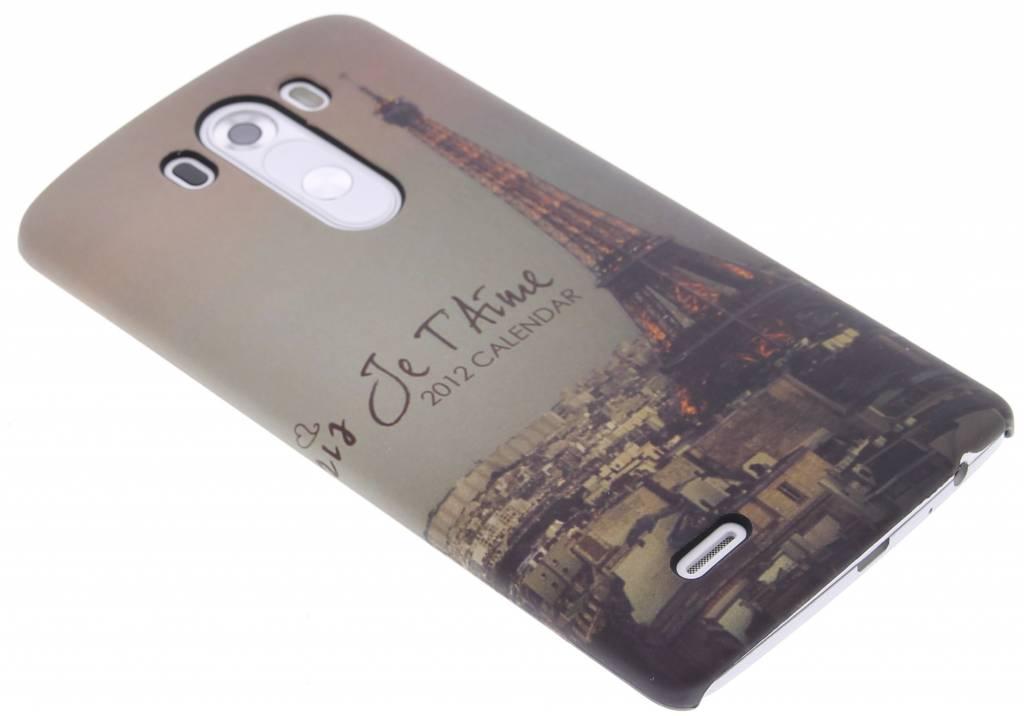 Parijs design hardcase hoesje voor de LG G3