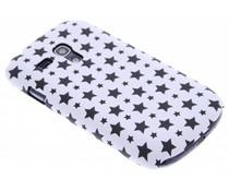 Wit sterren design hardcase hoesje Galaxy S3 Mini
