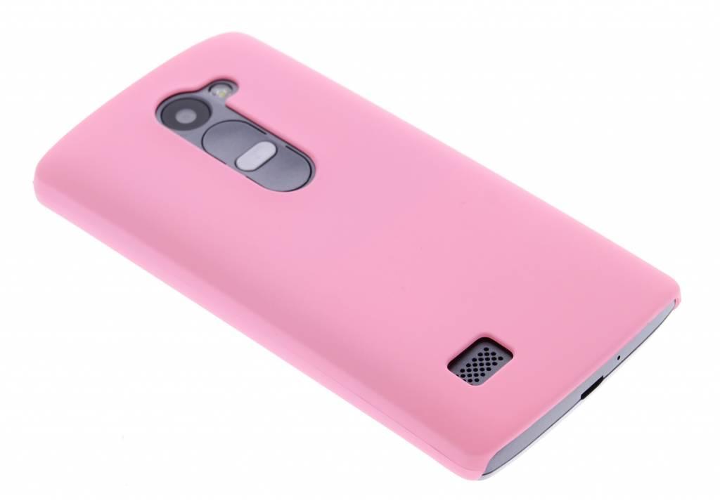Roze effen hardcase hoesje voor de LG Leon