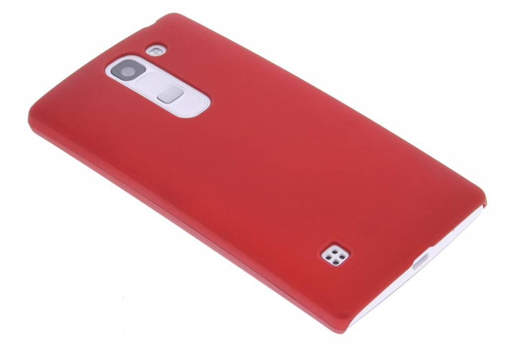 Rood effen hardcase hoesje voor de LG Spirit