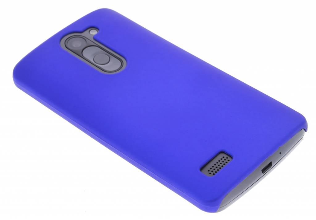 Blauw effen hardcase voor de hoesje LG L Bello / L80 Plus