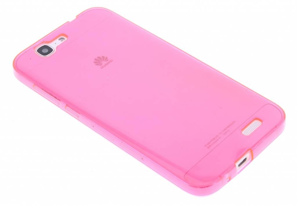 Fuchsia transparante gel case voor de Huawei Ascend G7