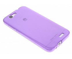 Paars transparant gel case Huawei Ascend G7