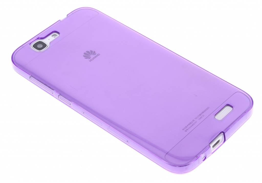 Paarse transparante gel case voor de Huawei Ascend G7
