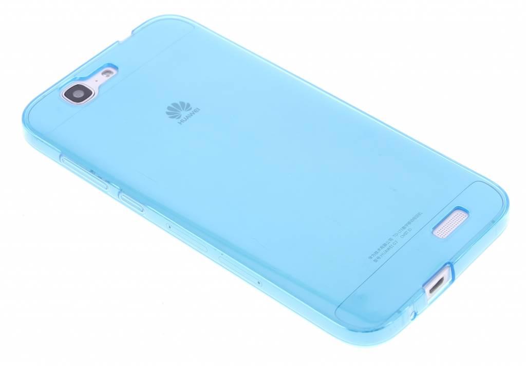 Turquoise transparante gel case voor de Huawei Ascend G7