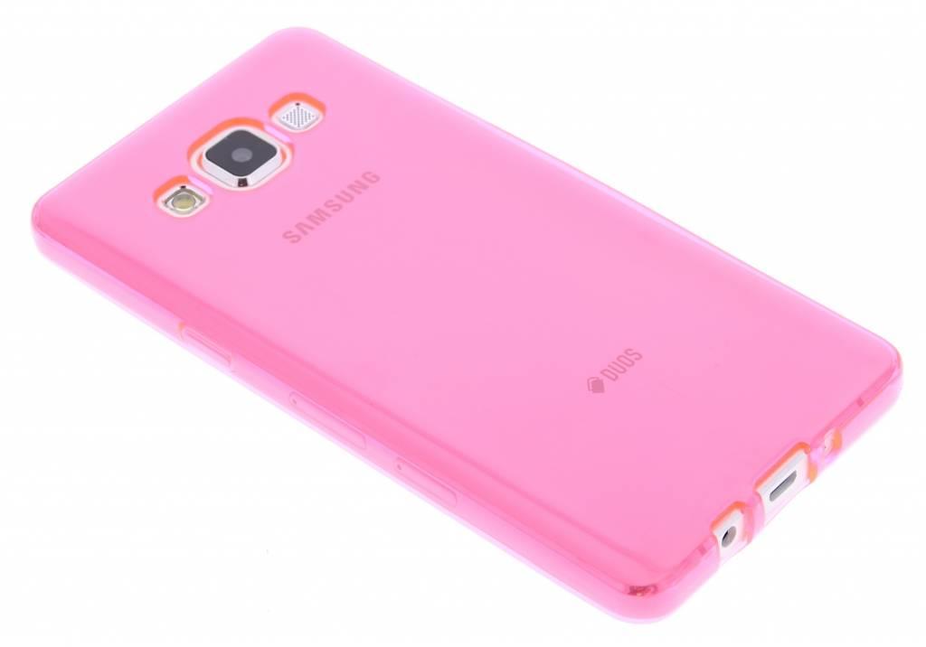 Fuchsia transparante gel case voor de Samsung Galaxy A5