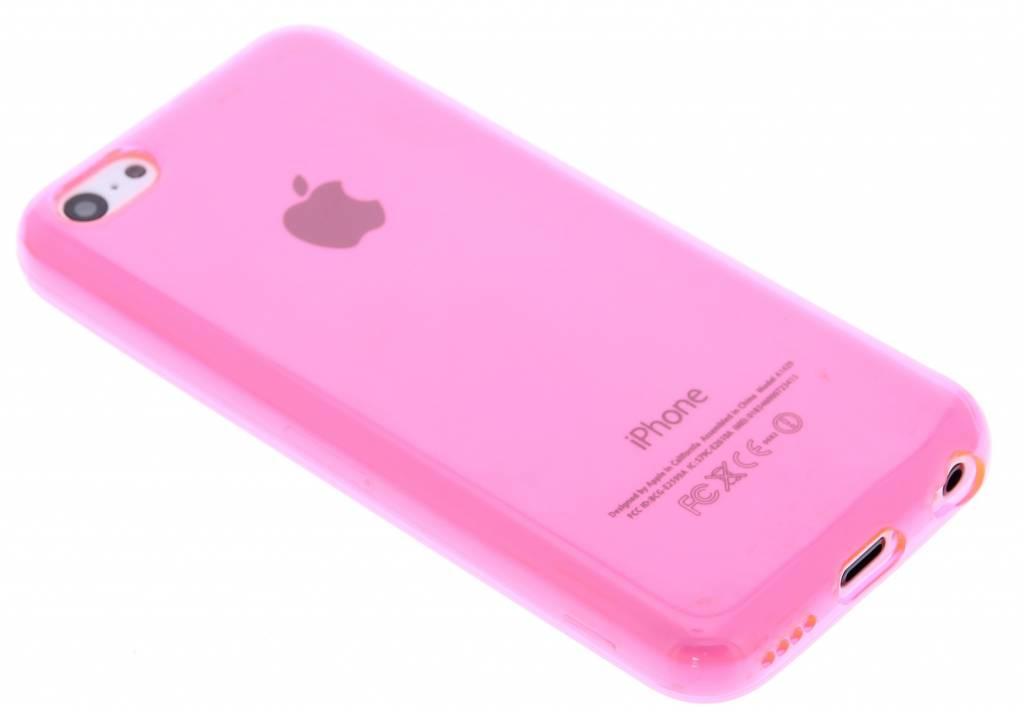 Fuchsia transparante gel case voor de iPhone 5c