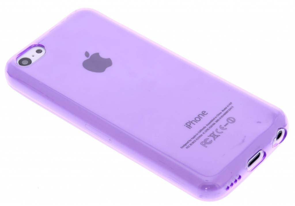Paarse transparante gel case voor de iPhone 5c