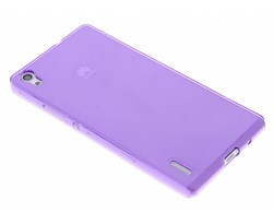Paars transparant gel case  Huawei Ascend P7