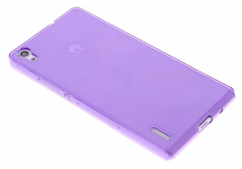 Paarse transparante gel case  voor de Huawei Ascend P7