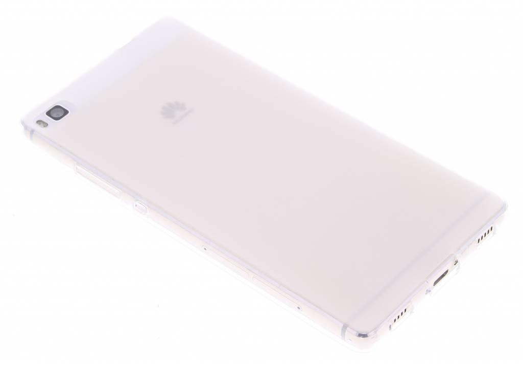 Wit hard siliconen hoesje voor de Huawei P8