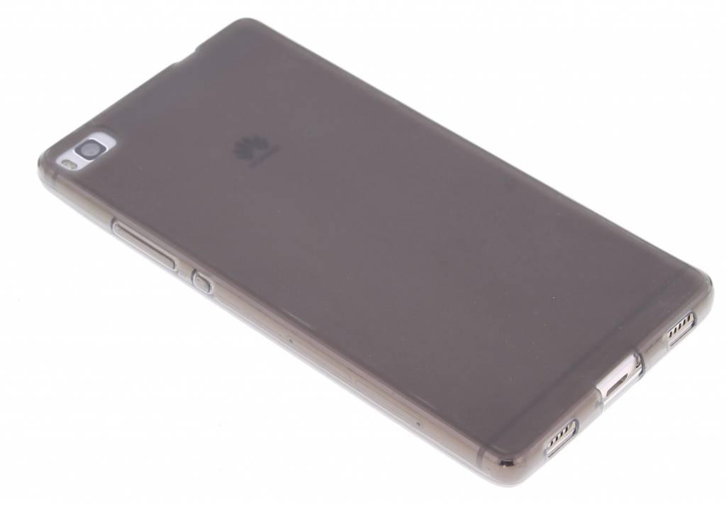 Grijs hard siliconen hoesje voor de Huawei P8