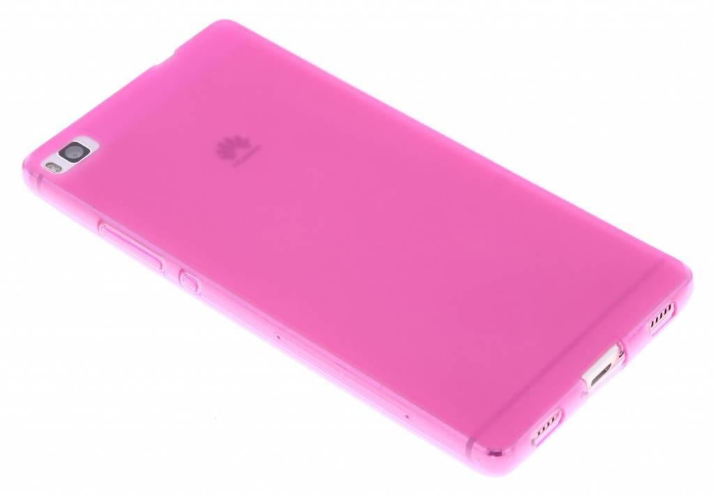 Fuchsia hard siliconen hoesje voor de Huawei P8