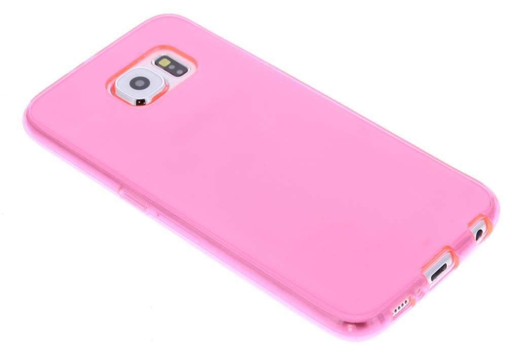 Fuchsia transparante gel case voor de Samsung Galaxy S6