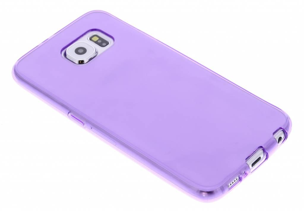 Paarse transparante gel case voor de Samsung Galaxy S6