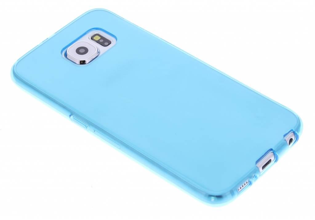 Turquoise transparante gel case voor de Samsung Galaxy S6