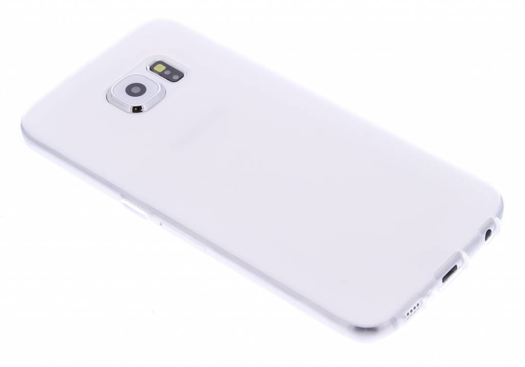 Wit hard siliconen hoesje voor de Samsung Galaxy S6