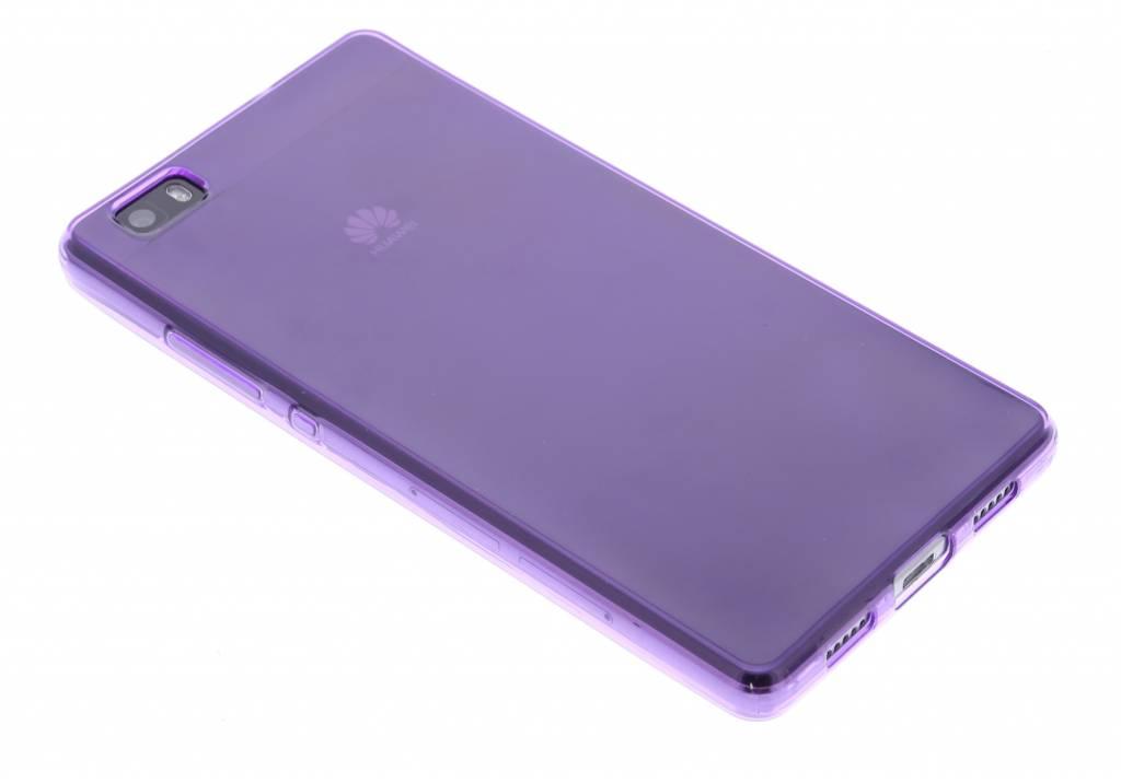 Paarse transparante gel case voor de Huawei P8 Lite
