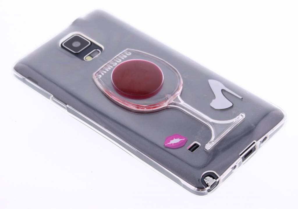 Rood transparant wijnglas TPU hoesje Samsung Galaxy Note 4