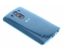 Turquoise transparant gel case LG G3