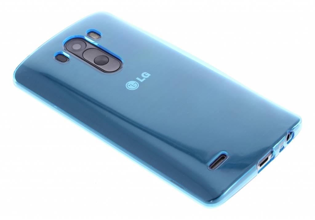 Turquoise transparante gel case voor de LG G3