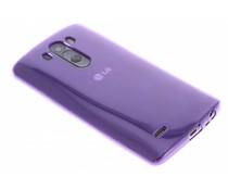 Paars transparant gel case LG G3