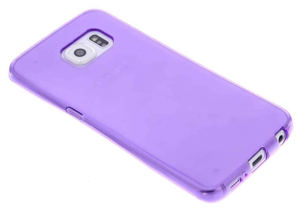 Paarse transparante gel case voor de Samsung Galaxy S6 Edge