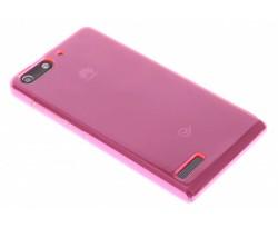 Fuchsia transparant gel case  Huawei Ascend G6
