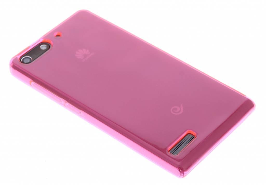 Fuchsia transparante gel case  voor de Huawei Ascend G6