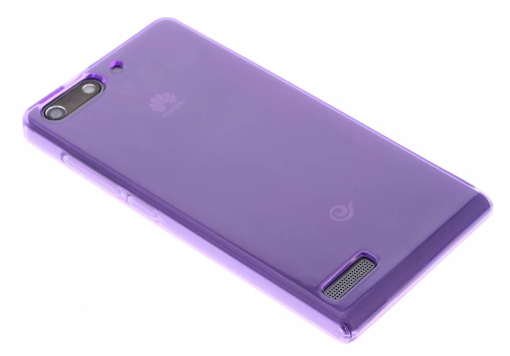 Paarse transparante gel case  voor de Huawei Ascend G6