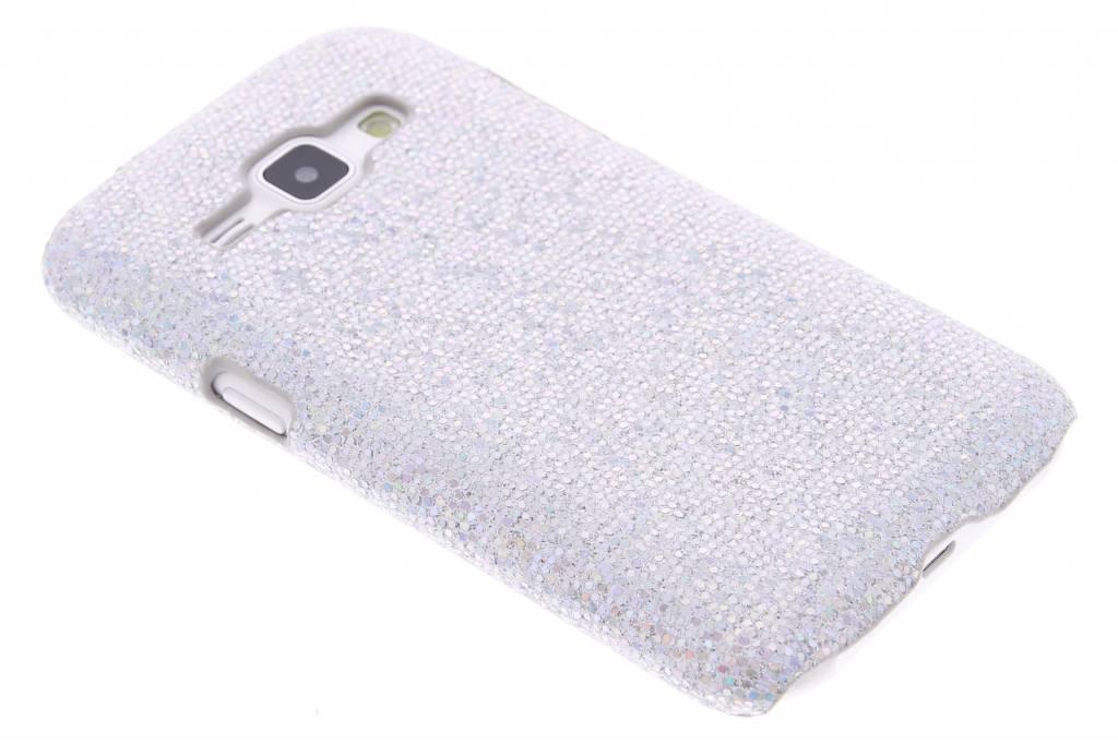 Zilver glamour design hardcase hoesje voor de Samsung Galaxy J1