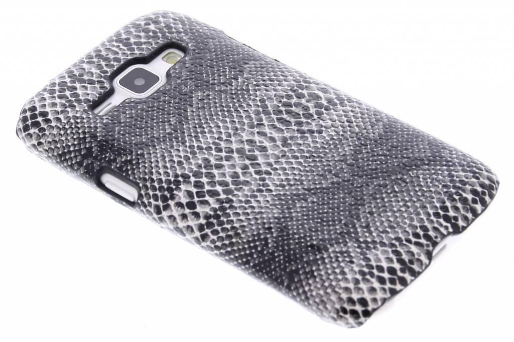 Zwart slangen design hardcase hoesje voor de Samsung Galaxy J1