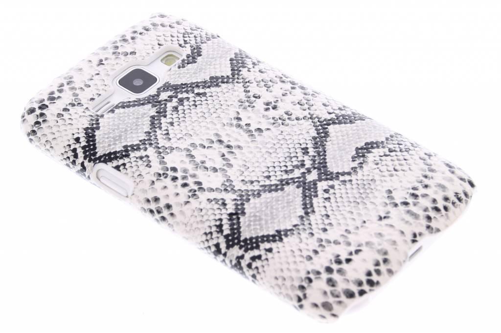Wit slangen design hardcase hoesje voor de Samsung Galaxy J1