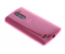 Fuchsia transparant gel case LG L Bello / L80 Plus