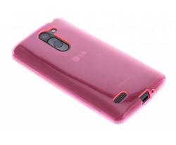 Fuchsia transparant gel case LG L Bello / L80 Plus