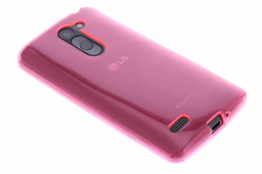 Fuchsia transparante gel case voor de LG L Bello / L80 Plus