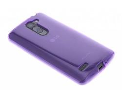 Paars transparant gel case LG L Bello / L80 Plus