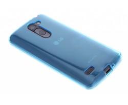 Turquoise transparant gel case LG L Bello / L80 Plus